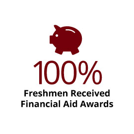 Infographic: 100% Freshmen Received Financial Aid Awards
