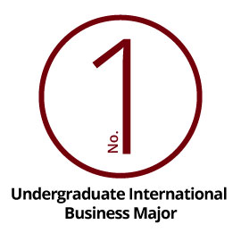 Infographic: No. 1 Undergraduate International Business Major