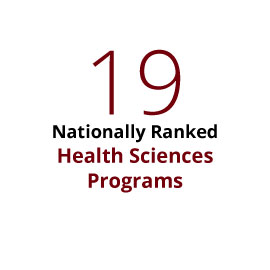 19 nationally ranked programs for health sciences