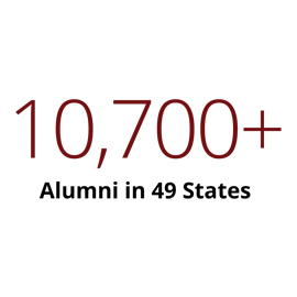 Infographic: 10,500+ alumni in 49 states